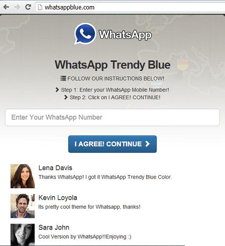 www.whatsappblue.com - WhatsApp Trendy Blue