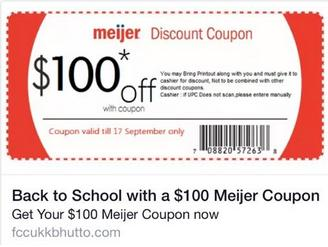 Meijer Coupon Facebook Scam