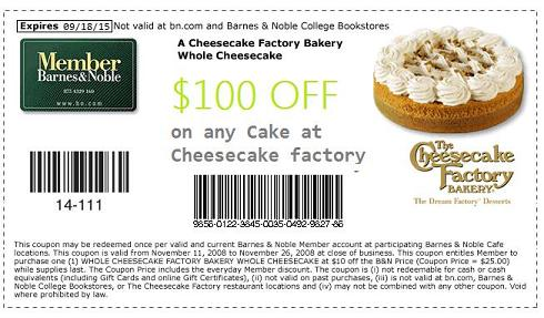 Coupon cheesecake factory birthday