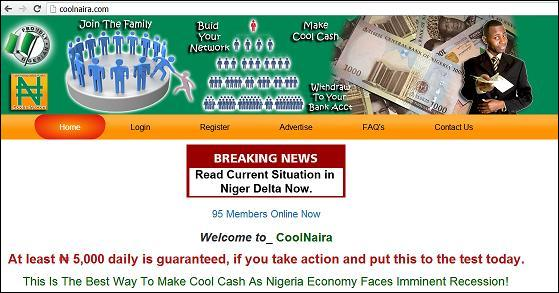 Website CoolNaira - www.coolnaira.com or www.coolnaira.ga