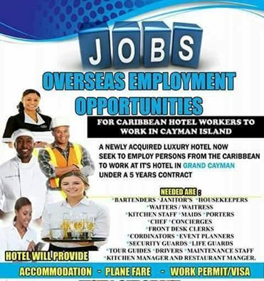 Cayman Islands Overseas Employment Opportunities for Caribbean Hotel Workers Scam