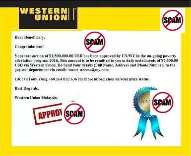 Western Union United Nation UN/WU Poverty Alleviation Program