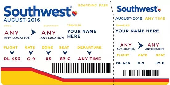 Southwest ticket