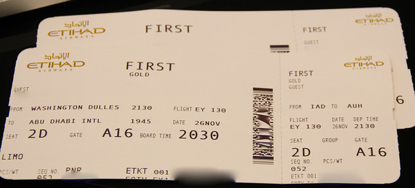 Etihad Airways Tickets
