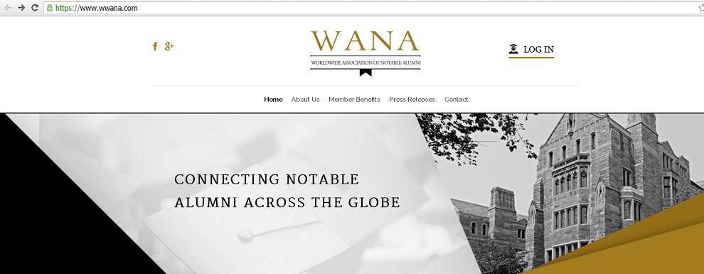 Worldwide Association of Notable Alumni - www.wwana.com