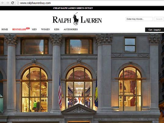 www.ralphaurenbuy.com - A Fake Ralph Lauren Clothing Website