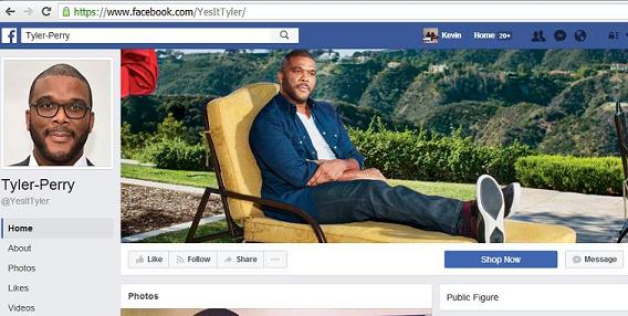 Fake Tyler Perry Facebook Page