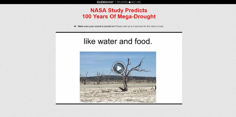 "The ""Mega Drought USA"" or ""World War Water"" Scam at megadroughtusa.org"