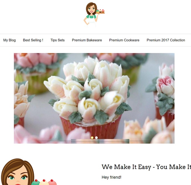 """Premium Tips Cake Decoration"" Website at Premium-Gadgets-Deals"