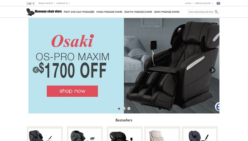 www.vipoutlite.com -VIP Outlite - Fraudulent Massage Chair Store