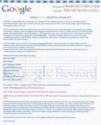 Google Annual Promotion Reward 2017