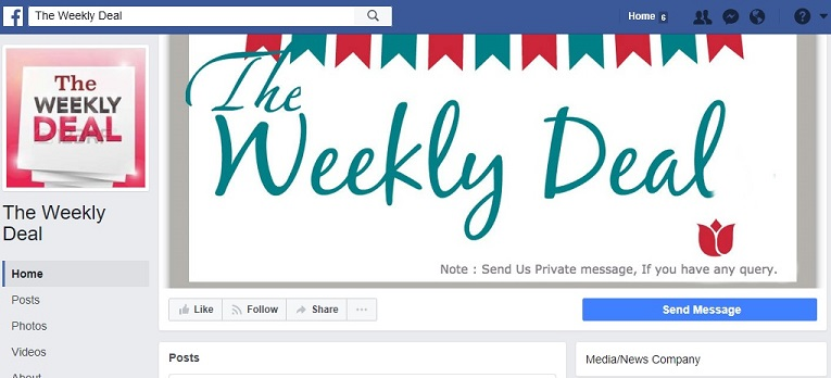 "The Fraudulent ""The Weekly Deal"" Facebook Page"