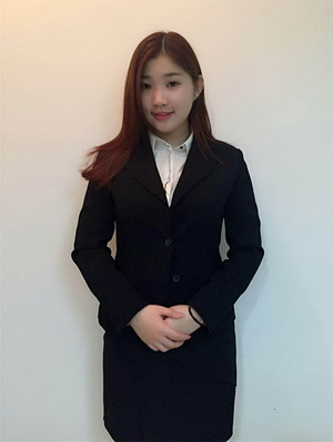 Chinese Lady in Black - Canton Fair in China