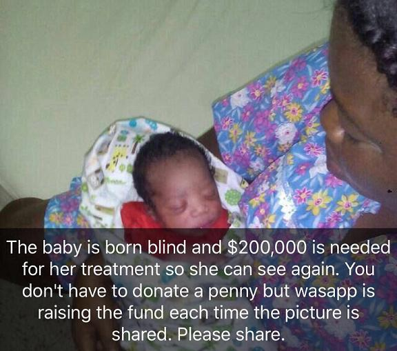Blind Baby with Mother