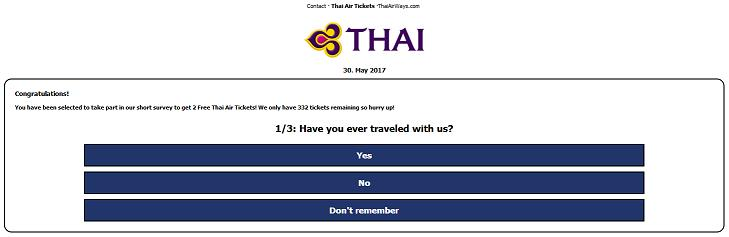 Get 2 0f 299 FREE Thai Air Tickets on their 57th Anniversary