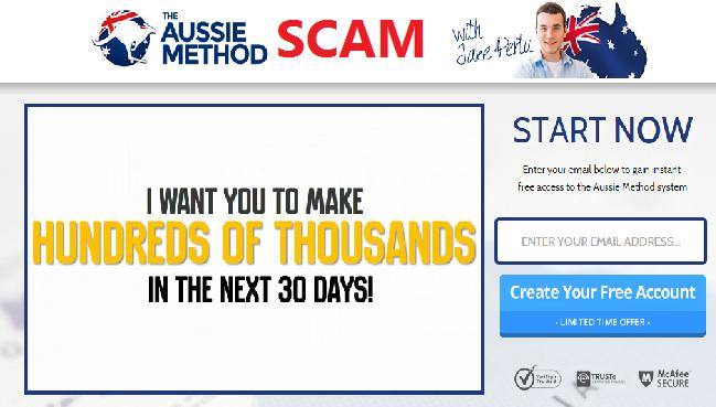 The AU Method or Aussie Method Trading Software Scam - Jake Pertu