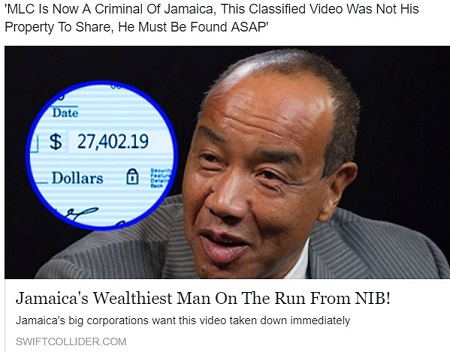 Fake-News - Jamaica's Wealthiest Man on the Run From NIB