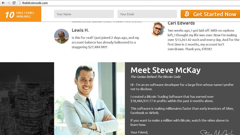 Steve McKay BitCoin Code Trading Software at www.thebitcoincode.com