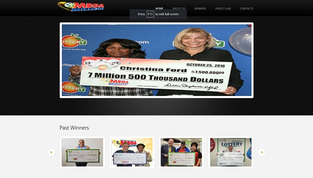 Mega Millions Lottery with Facebook Promotion