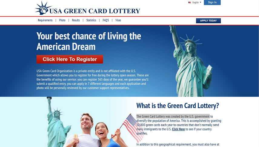 usagreencardlottery.org - The Fraudulent USA Green Card Lottery Website