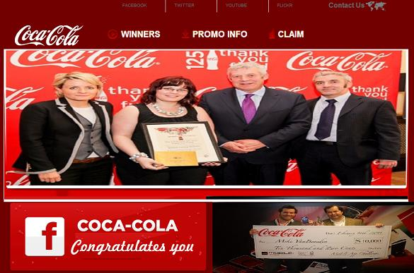 www.mobgifts.net - Fake Coca-Cola Website