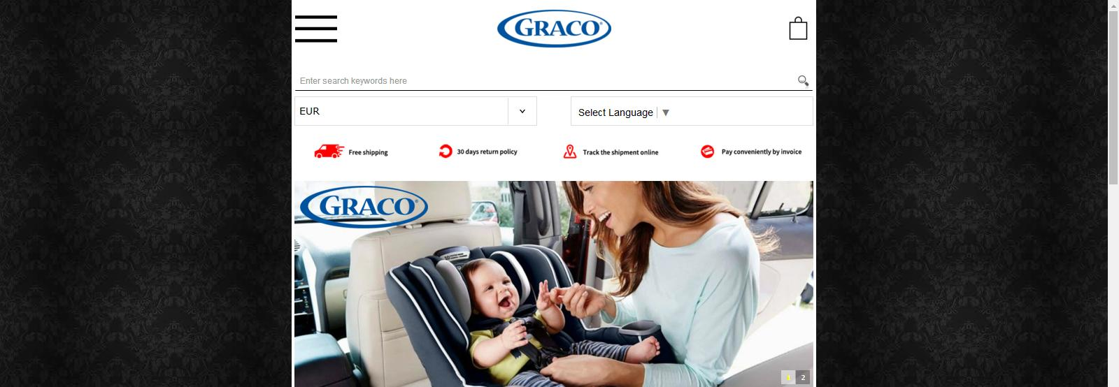 babyproducts.online - Fake Graco Store
