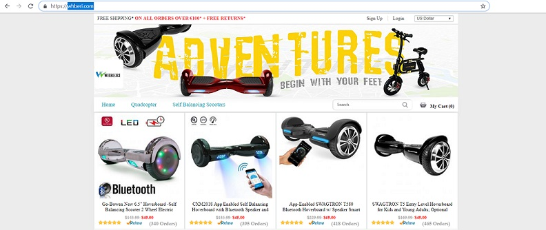 www.whberi.com - the Fake Scooter and Hoverboard Website