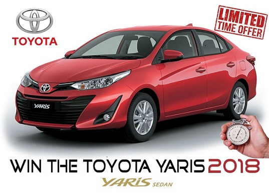 Toyota Yaris 2018 Offer or Award Scam