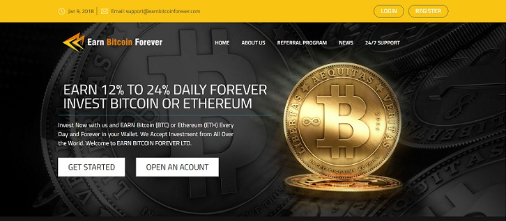 Earn Bitcoin Forever Ltd Website at earnbitcoinforever.com