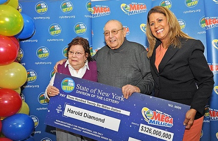 Harold Diamond and Wife Carol, the Mega Millions jackpot winners