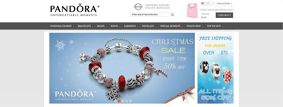 Pandora website at panbuys.com