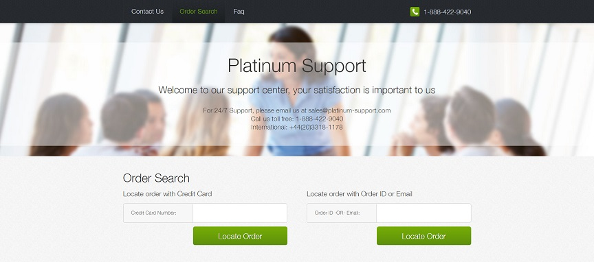 """Platinum Support"" Website at platinum-support.com"