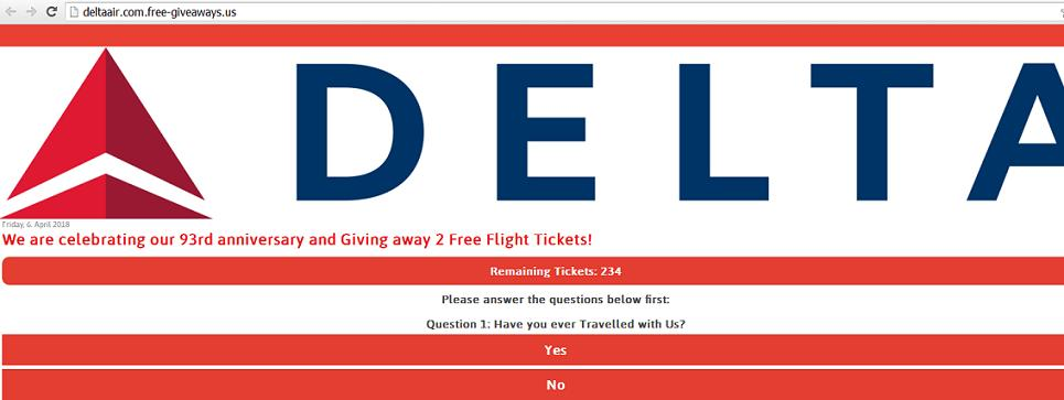 Delta Air Airlines 93rd Anniversary 2 Free Flight Tickets Giveaway