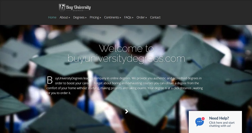 Buyuniversitydegrees.com - The Fake Degree Selling Website
