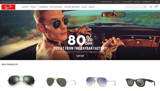 RayBan Sunglasse at www.cosysee.com