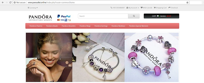 Pandora Outlet Store at www.panoutlet.online