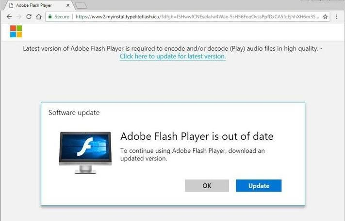 A Fake and Malicious Adobe Flash Update Website