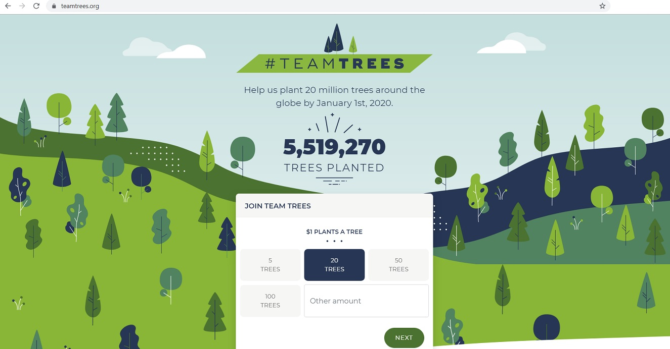Team Trees Website