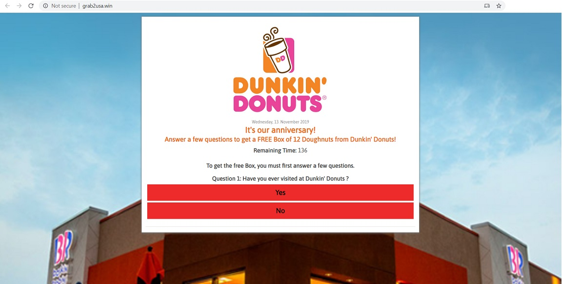 Fake Dunkin Donuts Website