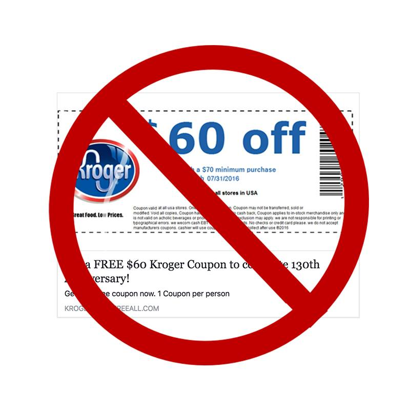 The Kroger Coupon Scam - $60 Off