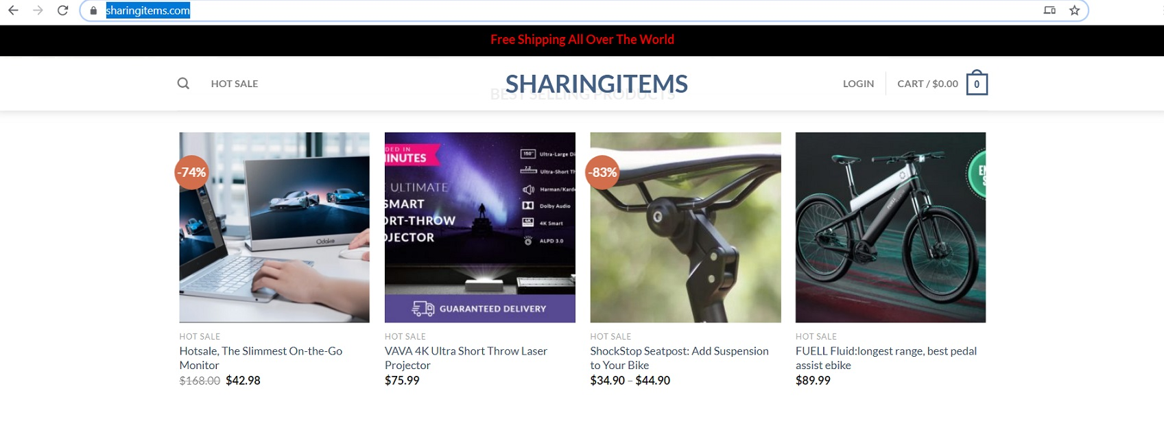 Sharingitems located at sharingitems.com