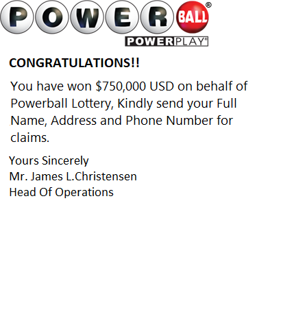 Powerball Email Lottery