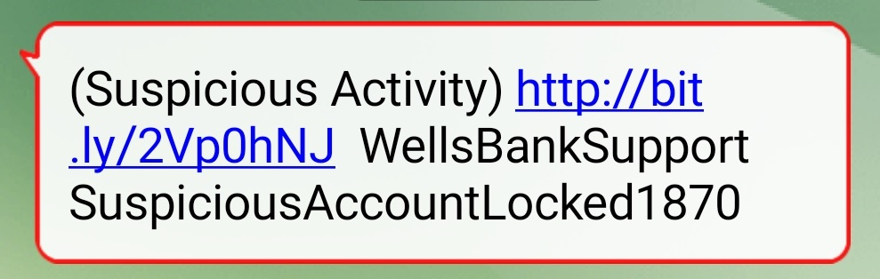 Wells Bank Support Suspicious Account Locked