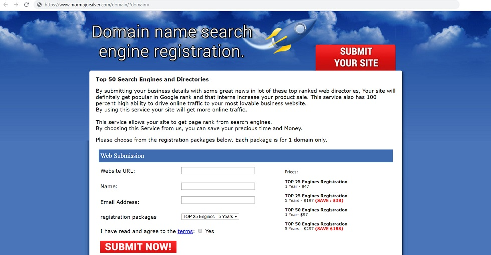 Domain Name Search Engine Registration
