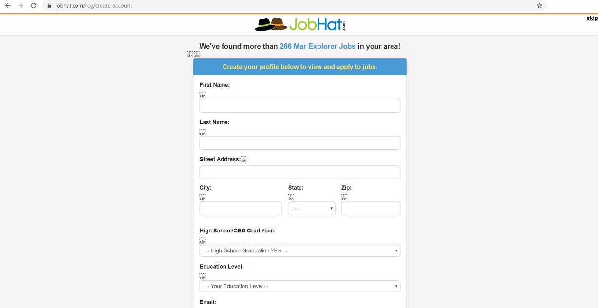 JobHat located at www.jobhat.com