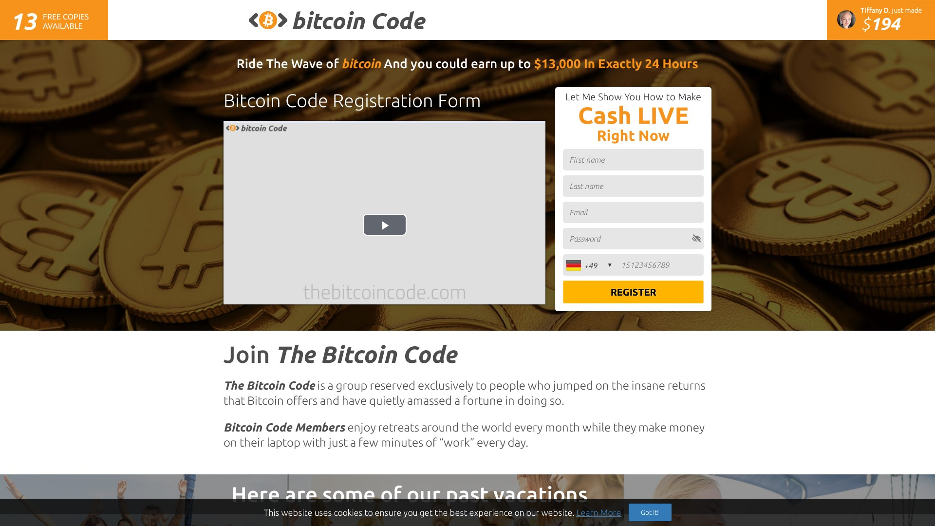 Bitcoin Code Scam - bitcoin-code.greatoffers.to - Steve McKay Bitcoin Code Trading Software