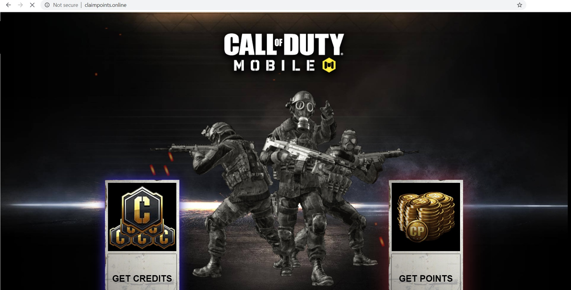 Getcod.net Scam: Call of Duty Mobile Credits
