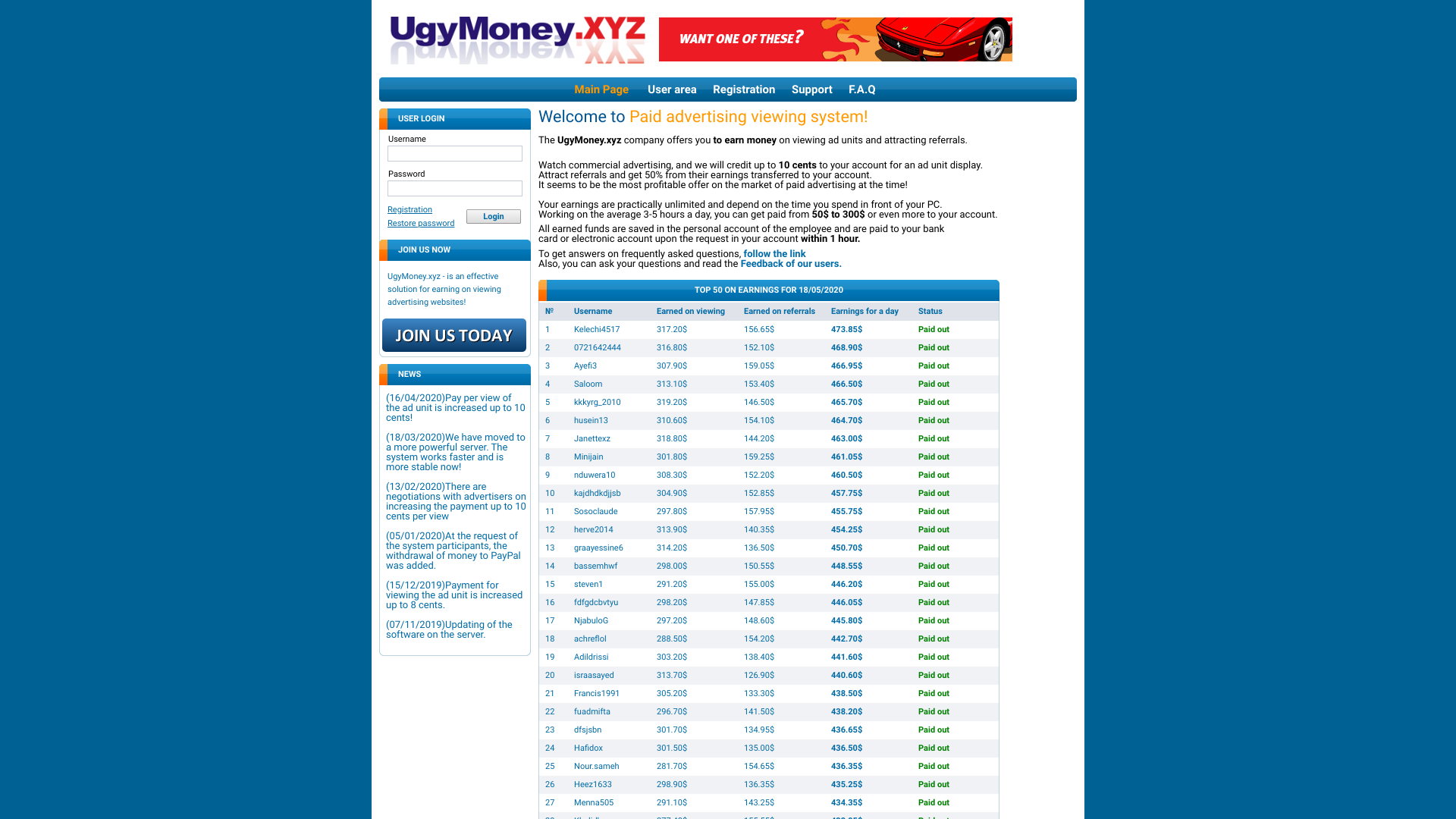 Ugymoney is a Fraudulent Work-From-Home Website