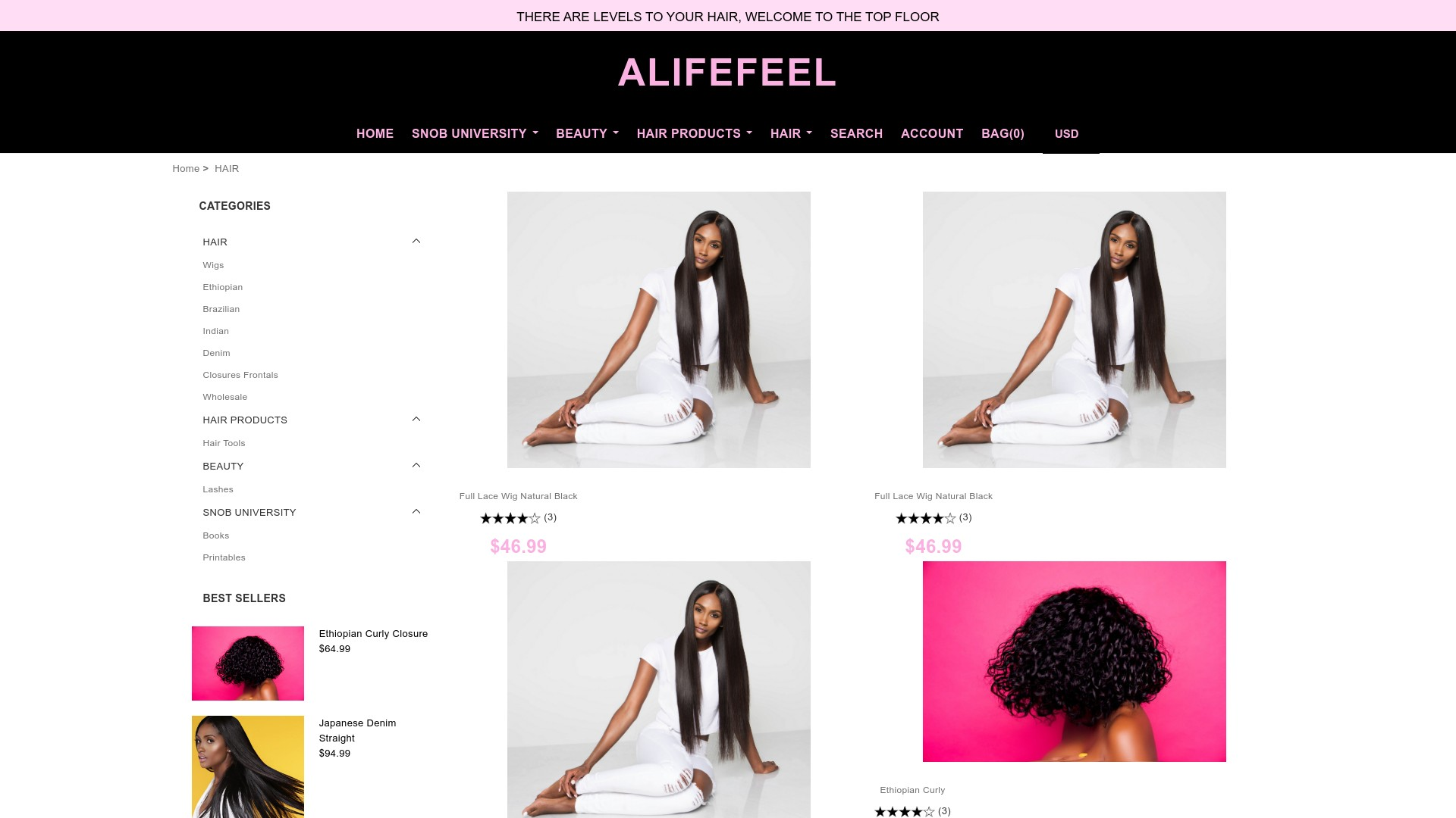 Is Alifefeel a Scam? See the Review of the Wig Store
