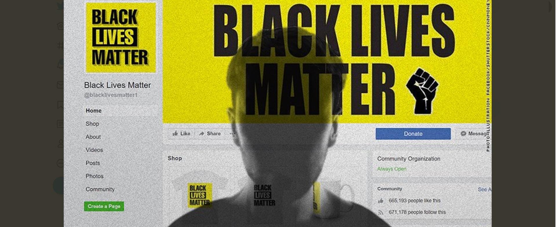 Black Lives Matter Scam  Fake Facebook Page and Websites